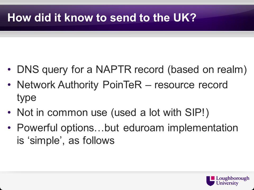NAPTR definition camford.ac.uk.