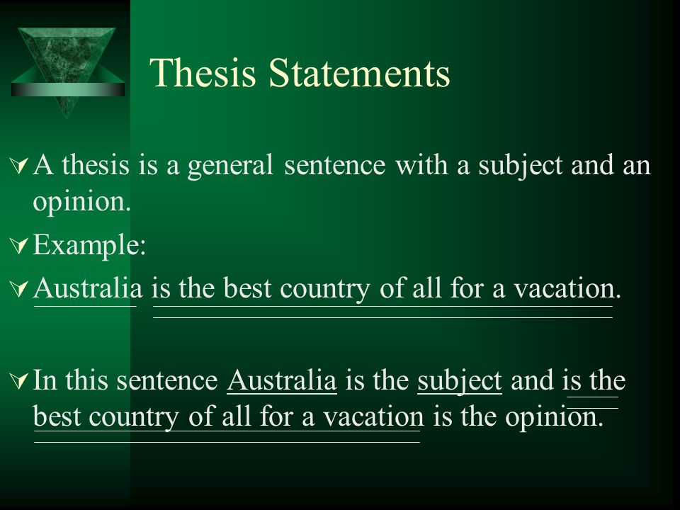 More Thesis Statements  Tibbetts Middle School is a wonderful place to go to school.