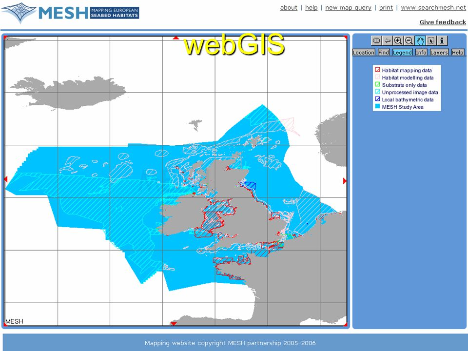 www.searchMESH.net webGIS