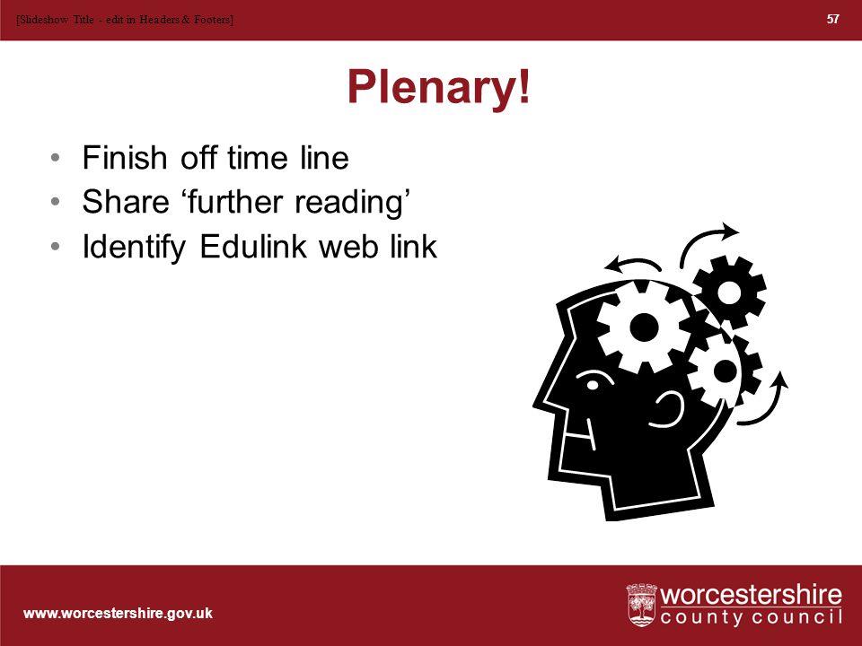 www.worcestershire.gov.uk Plenary.