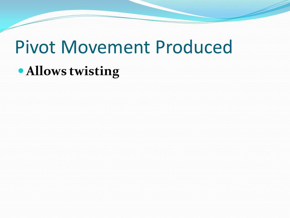 Pivot Movement Produced Allows twisting