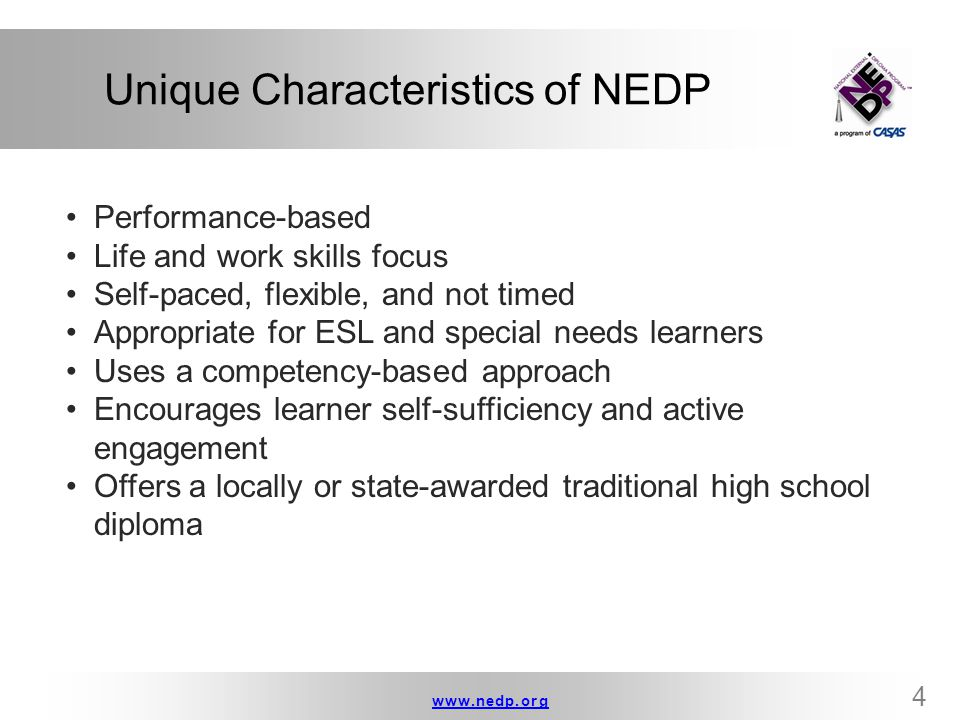 www.nedp.orgwww.nedp.org 5 What Do Graduates Like about NEDP.
