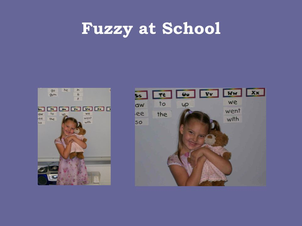 Danielle & Fuzzy  Fuzzy is about 4- years-old  She's a Ty Beanie Bear  This is Danielle's baby