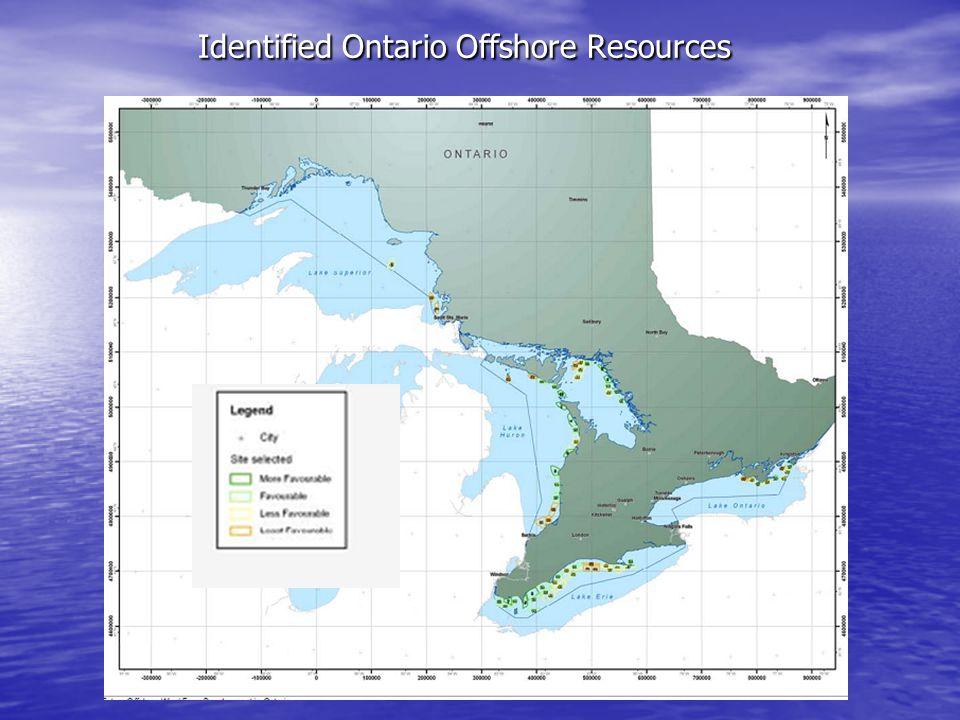 Identified Ontario Offshore Resources Identified Ontario Offshore Resources