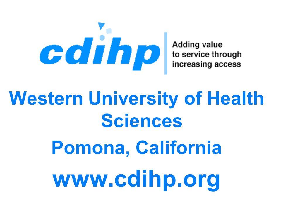 (c) 11/29/06 Hop Up | jik@jik.com 3 Western University of Health Sciences Pomona, California www.cdihp.org