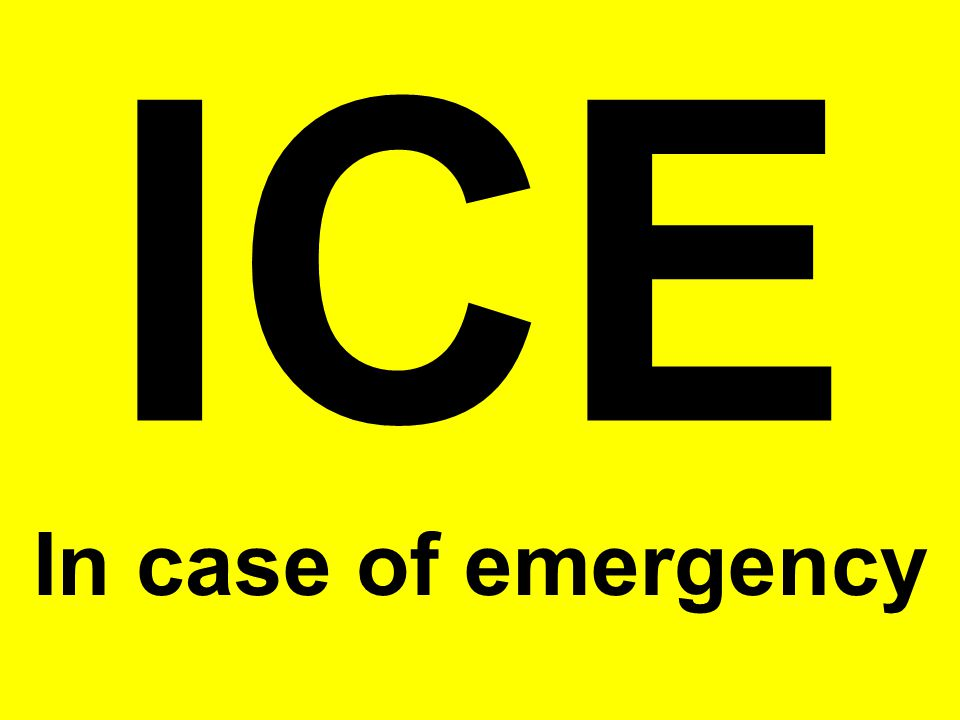 ICE In case of emergency