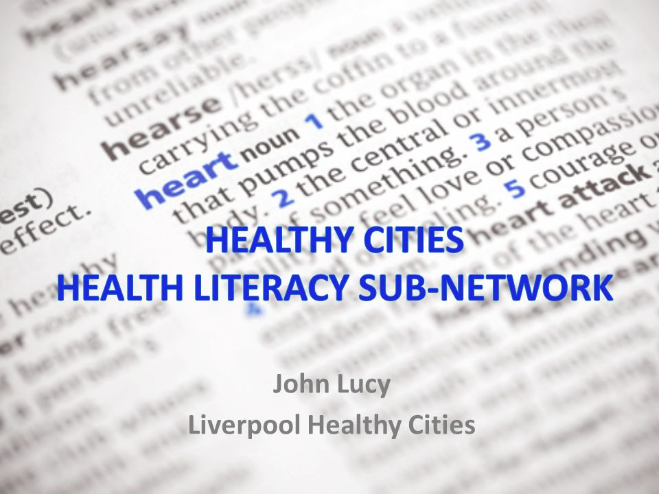 Sub-networks  Healthy Ageing  Healthy Urban Environment  Health Equity  Health Literacy