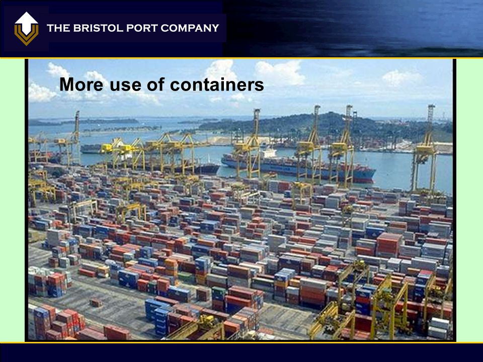 More use of containers