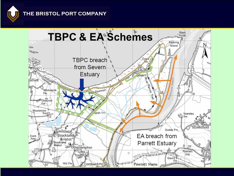 TBPC breach from Severn Estuary EA breach from Parrett Estuary TBPC & EA Schemes