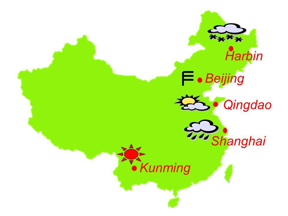 Harbin Qingdao Shanghai Beijing Kunming