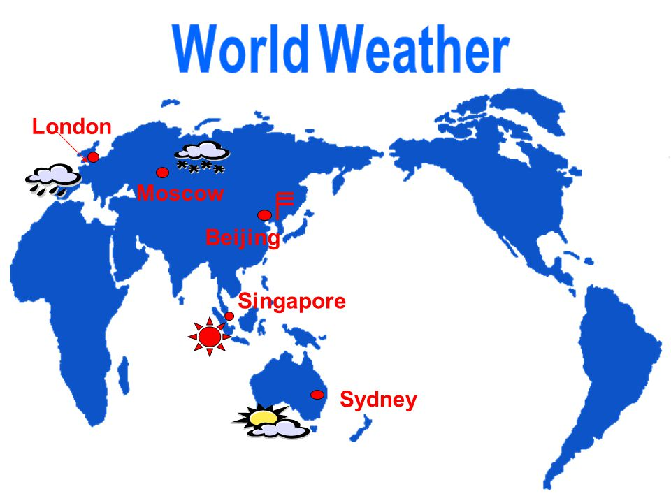 London Singapore Beijing Moscow Sydney