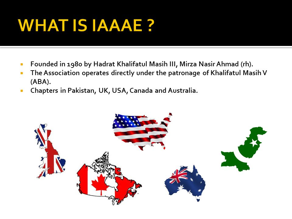  Meets Jama'at Architectural and Engineering needs  Supports planning efforts for new mosques projects  Provides technical advise to the mosque committees  Identifies sustainable design elements at the mosques  Advises local property secretary on mosque maintenance  Provides cost saving solutions to the projects  Helps conduct energy audits at the mosques  Provides job resources and networking opportunities  Provides engineering guidance to Atfal/Khuddam and Waqfe Nau children  Provides technical support to Humanity First  Collaborates with IAAAE chapters worldwide.
