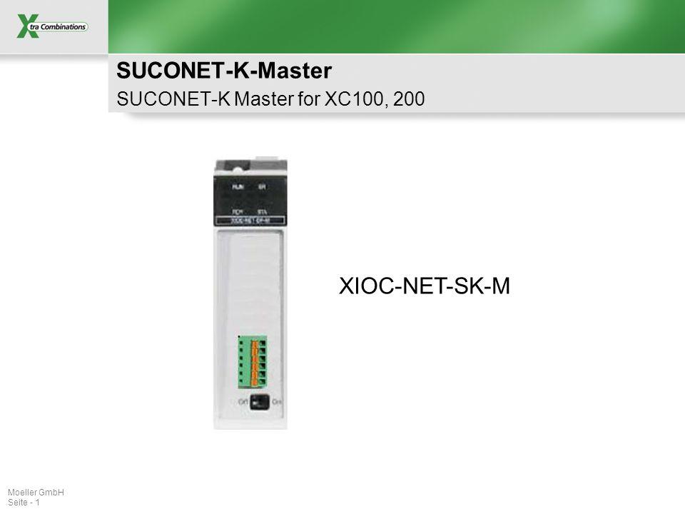 Moeller GmbH Seite - 1 SUCONET-K-Master SUCONET-K Master for XC100, 200 XIOC-NET-SK-M
