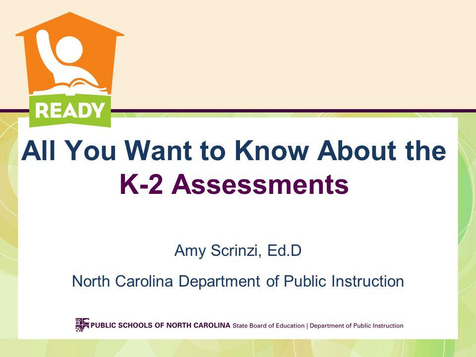 Agenda History of K-2 Assessment K-2 Instructional & Formative Assessment Tasks K-2 Mid-Year Benchmark Assessment K-2 Summative Assessment