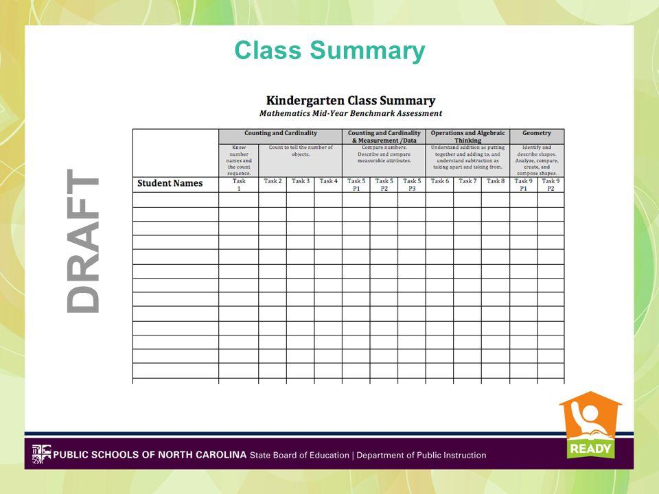 Class Summary DRAFT