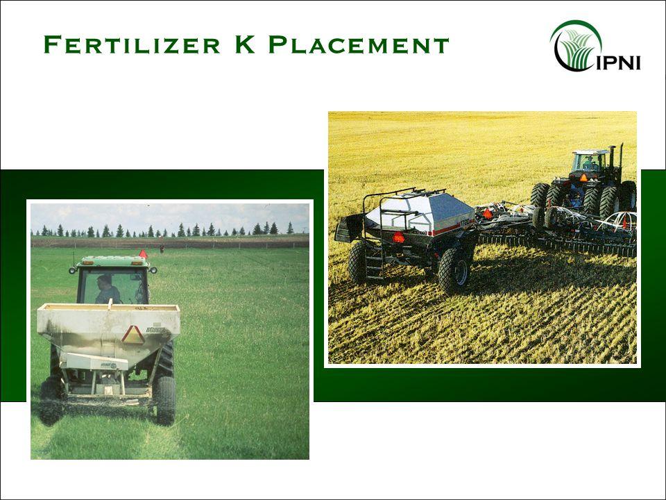 Fertilizer K Placement