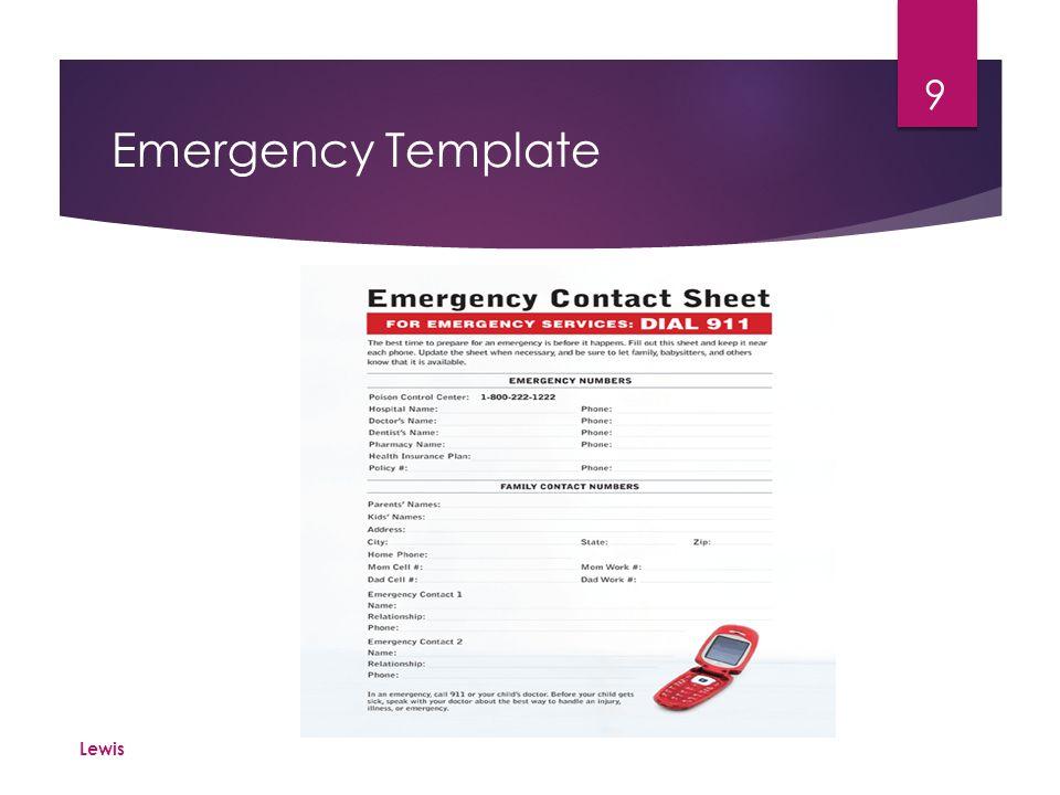 Emergency Template Lewis 9
