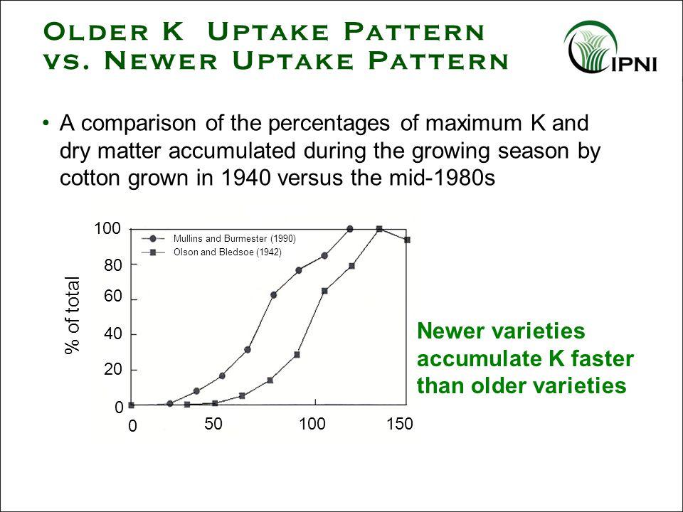Older K Uptake Pattern vs.