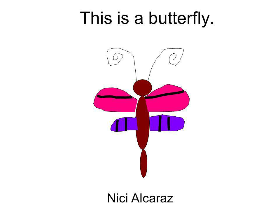This is a butterfly. Nici Alcaraz