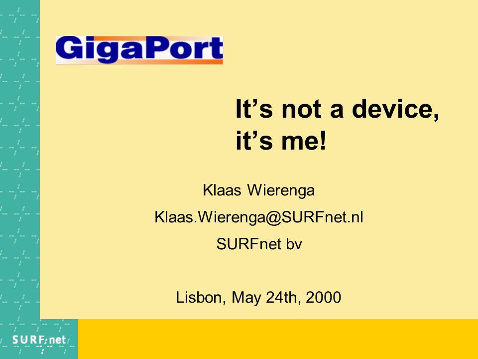 It's not a device, it's me.