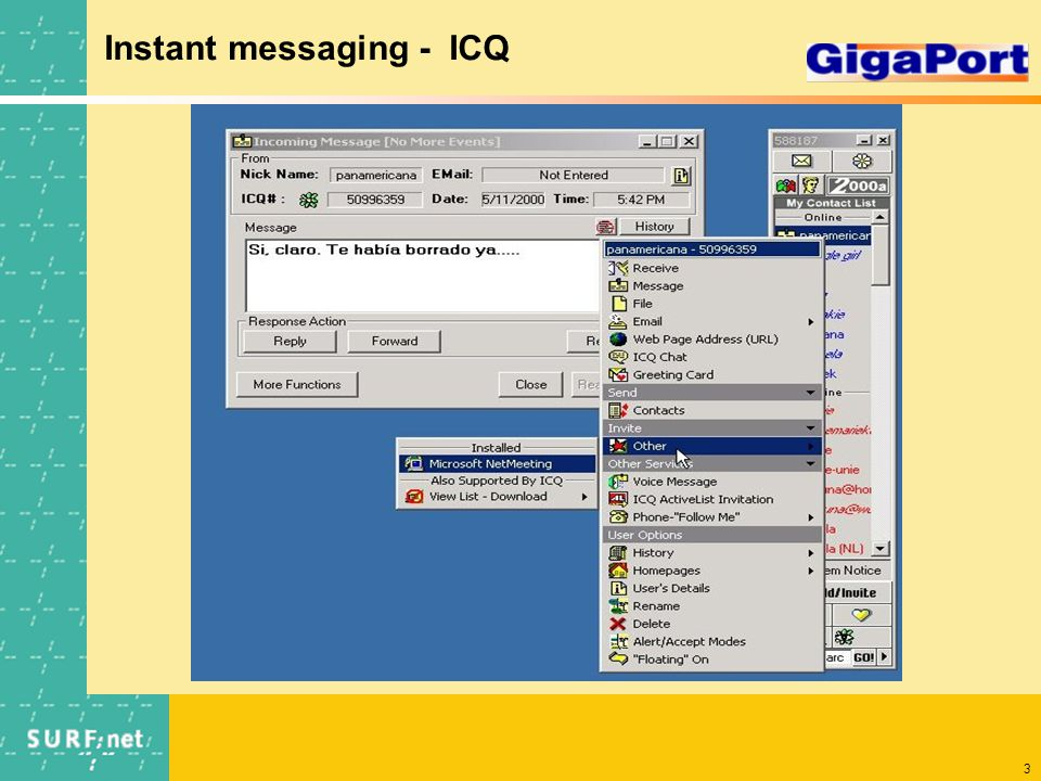 3 Instant messaging - ICQ