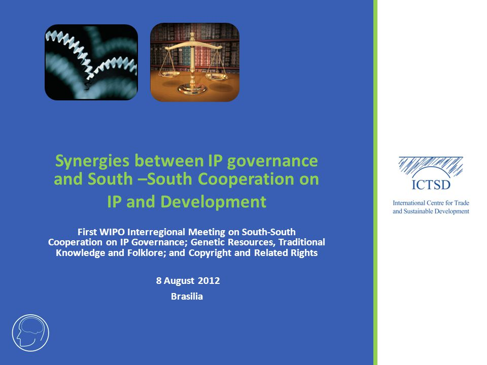 Synergies between IP governance and South –South Cooperation on IP and Development First WIPO Interregional Meeting on South-South Cooperation on IP G