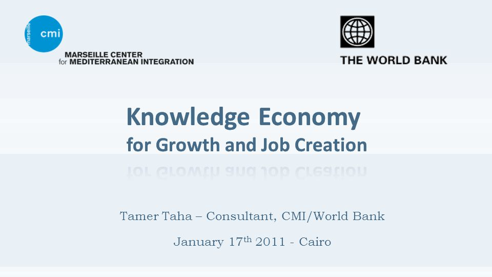 Tamer Taha – Consultant, CMI/World Bank January 17 th 2011 - Cairo