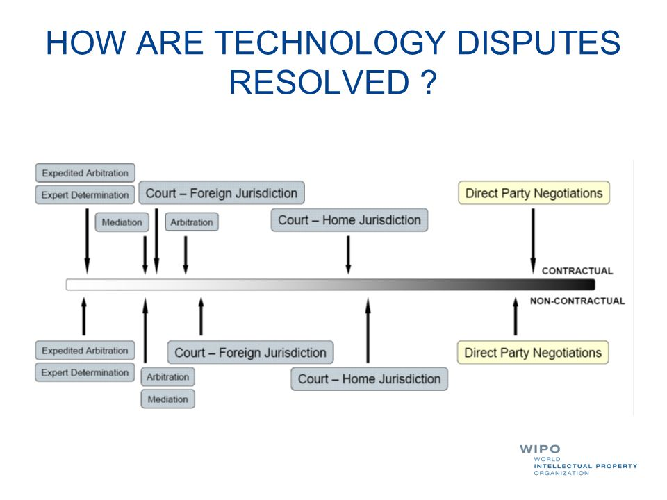 HOW ARE TECHNOLOGY DISPUTES RESOLVED ?