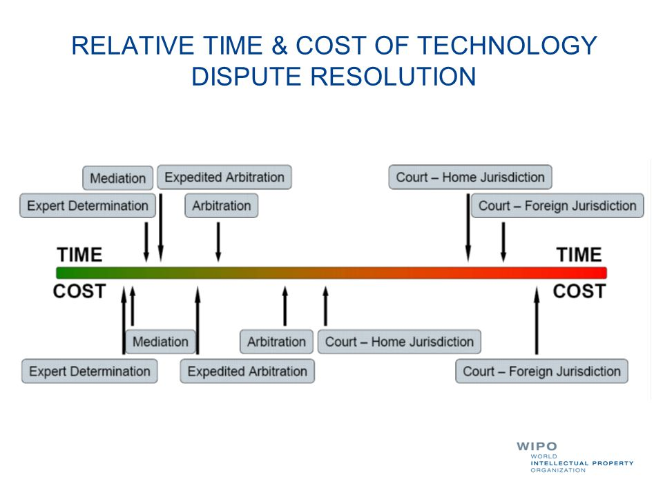 RELATIVE TIME & COST OF TECHNOLOGY DISPUTE RESOLUTION