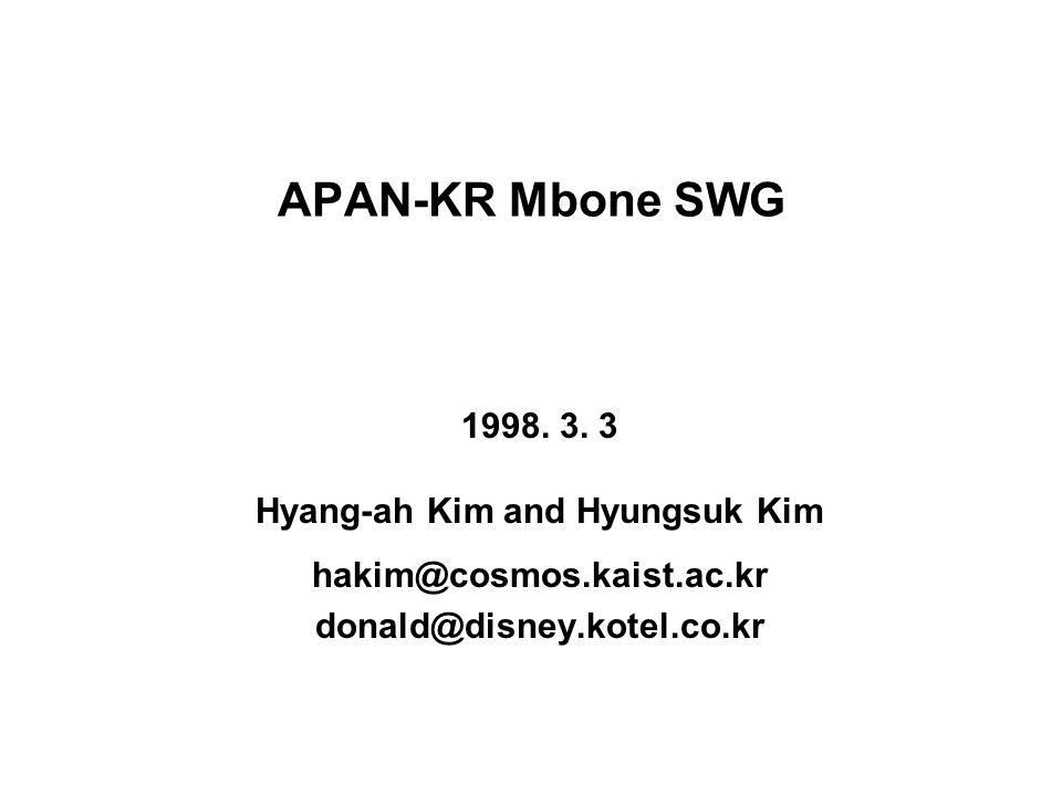 APAN-KR Mbone SWG 1998. 3.