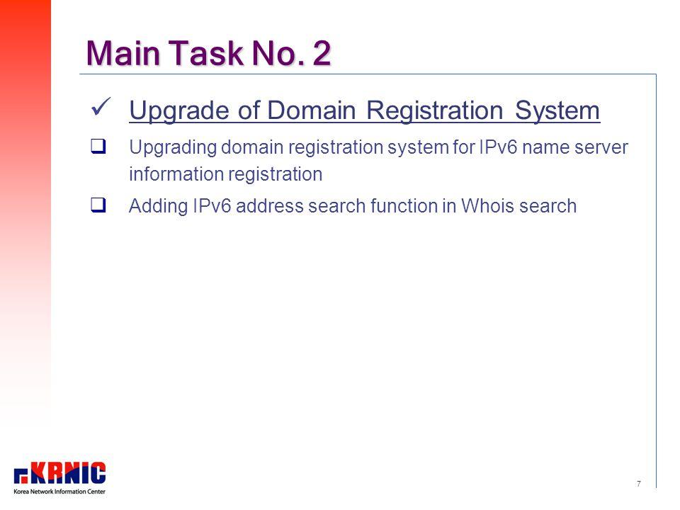 7 Main Task No.