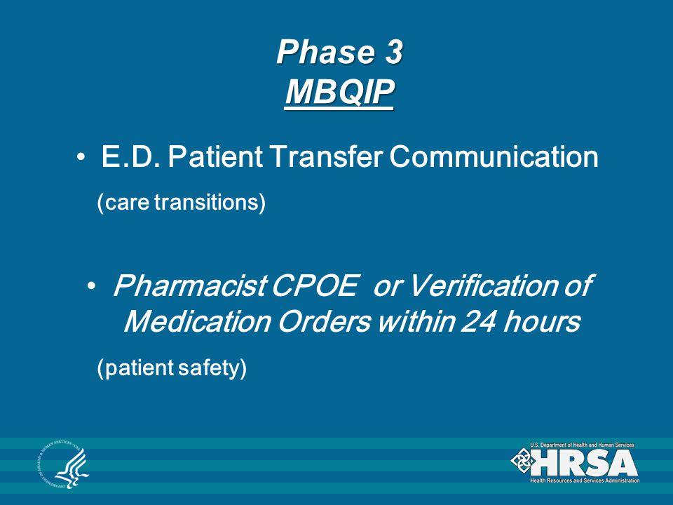 Phase 3 MBQIP E.D.