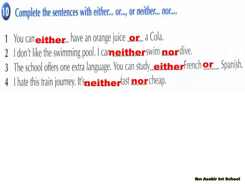 either or neither nor either or neither nor