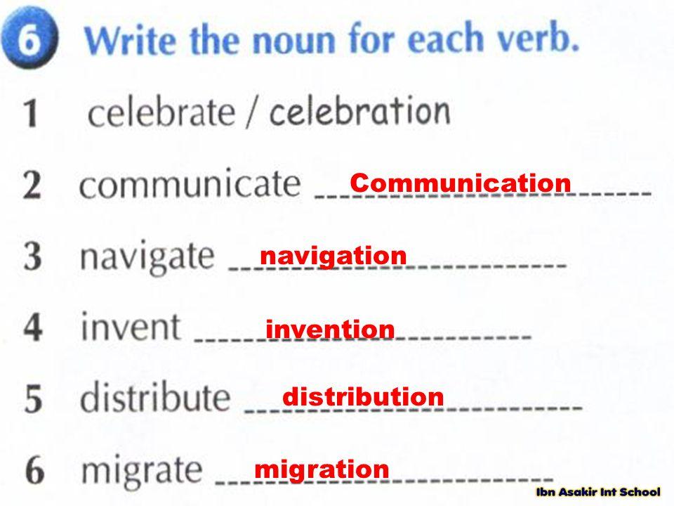 Communication navigation invention distribution migration