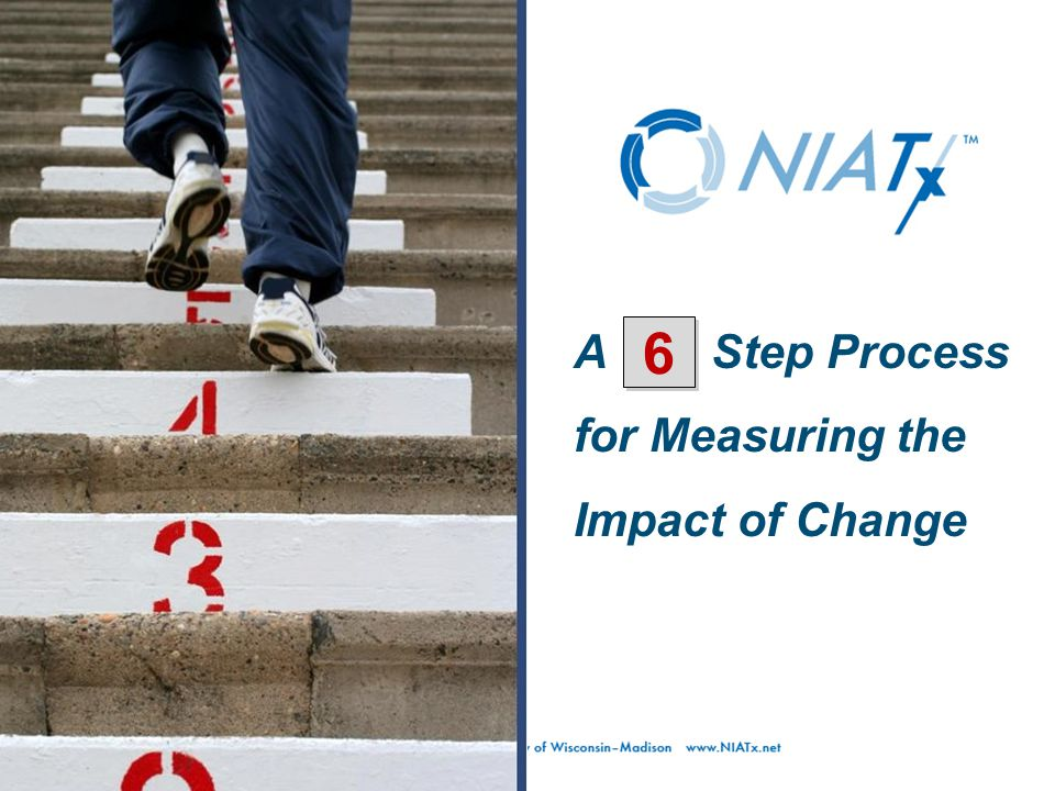 A Step Process for Measuring the Impact of Change 6 6