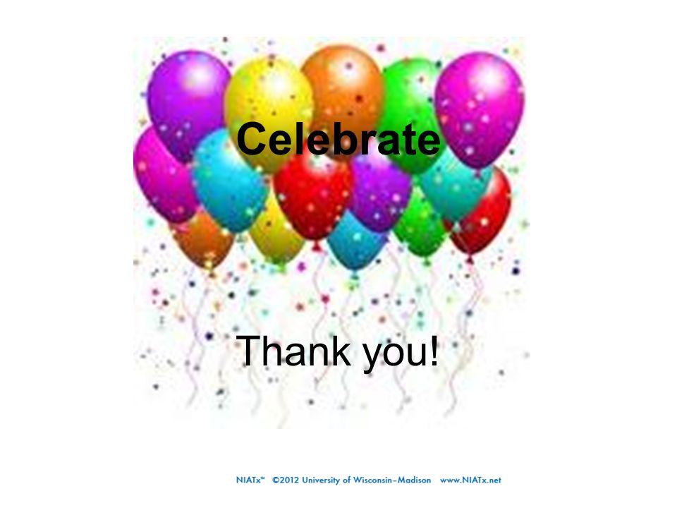 Thank you! Celebrate