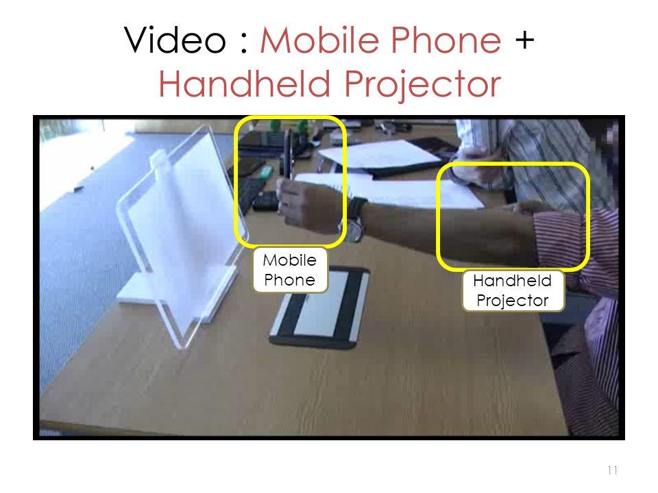 Video : Mobile Phone + Handheld Projector 11 Handheld Projector Mobile Phone