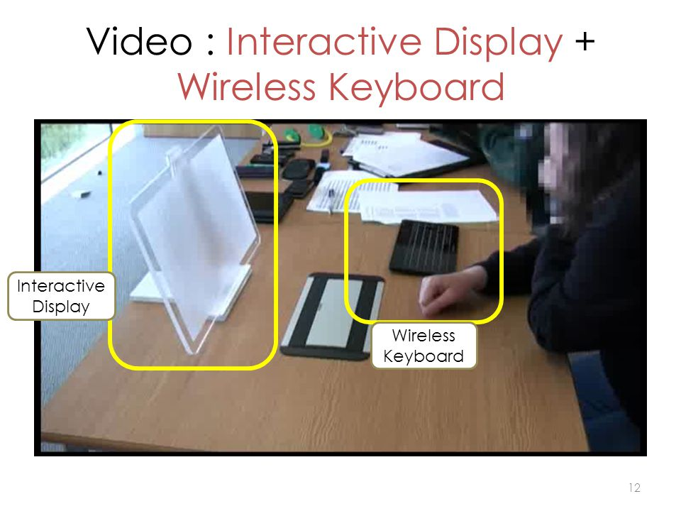 Video : Interactive Display + Wireless Keyboard 12 Interactive Display Wireless Keyboard