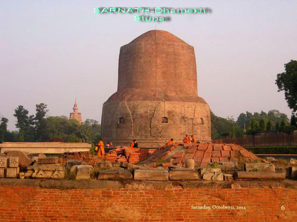 The deer park where the Buddha preached his first sermon is now called Sarnath.