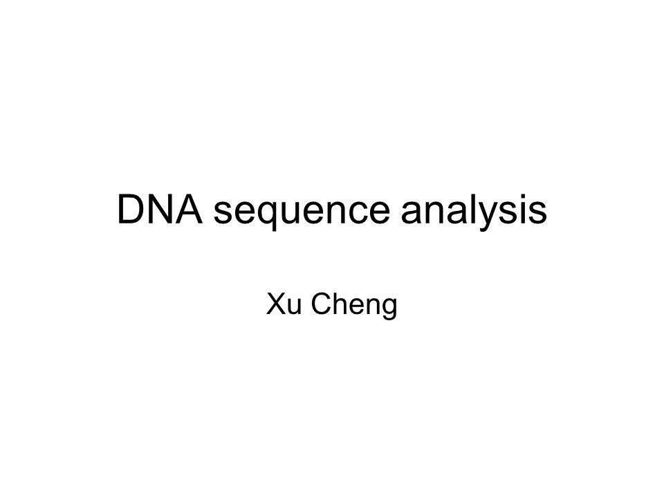 DNA sequence analysis Xu Cheng
