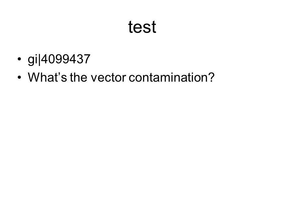 test gi|4099437 What's the vector contamination?