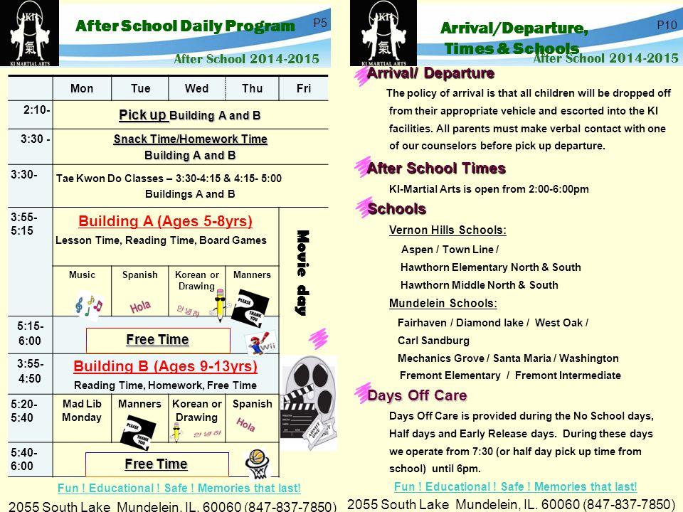 After School 2014-2015 2055 South Lake Mundelein, IL.
