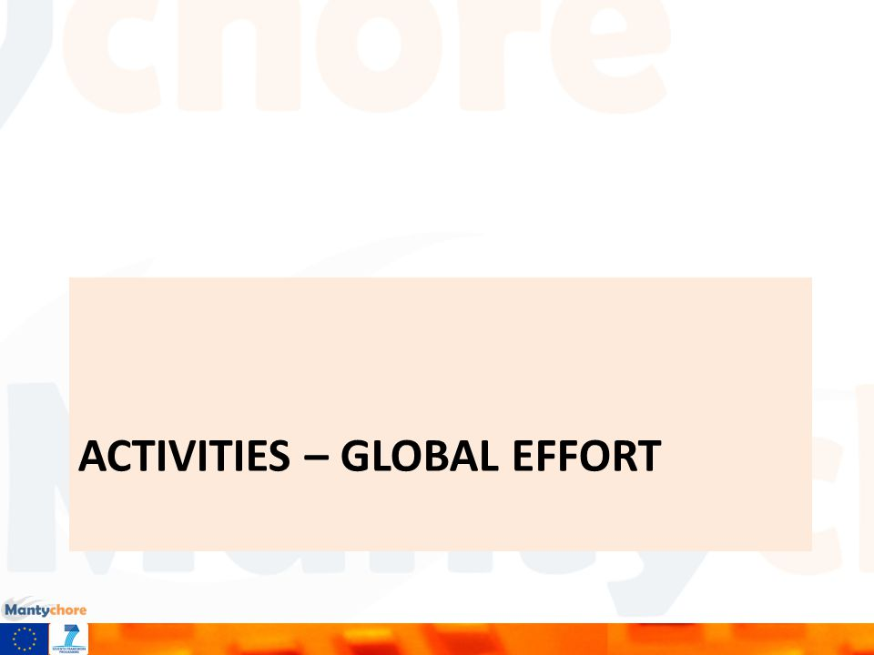 ACTIVITIES – GLOBAL EFFORT