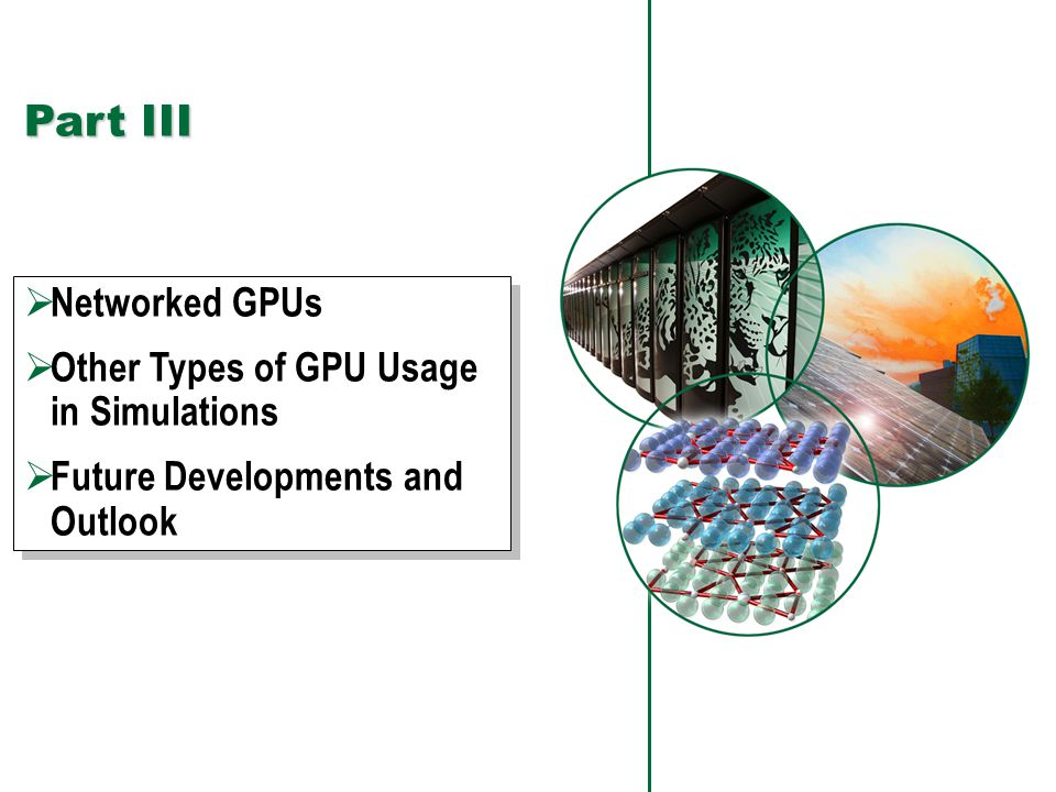 99 Performance Study Result  Performance gain from DES-style execution can be reaped on GPGPU as well Using proper adaptation of DES to hybrid  GPGPU can give several fold improvement over CPU performance on plain TS as well as DES (hybrid) GPU-Hybrid is 17× relative to TS-CPU!