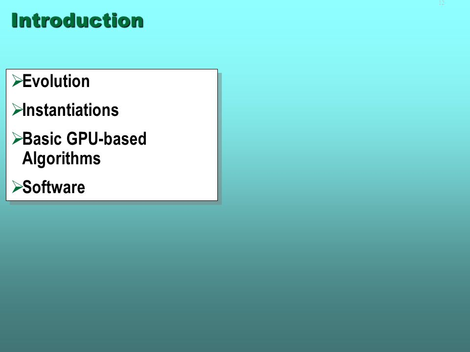 Part I  Introduction  Applications  Basic Concepts  Introduction  Applications  Basic Concepts