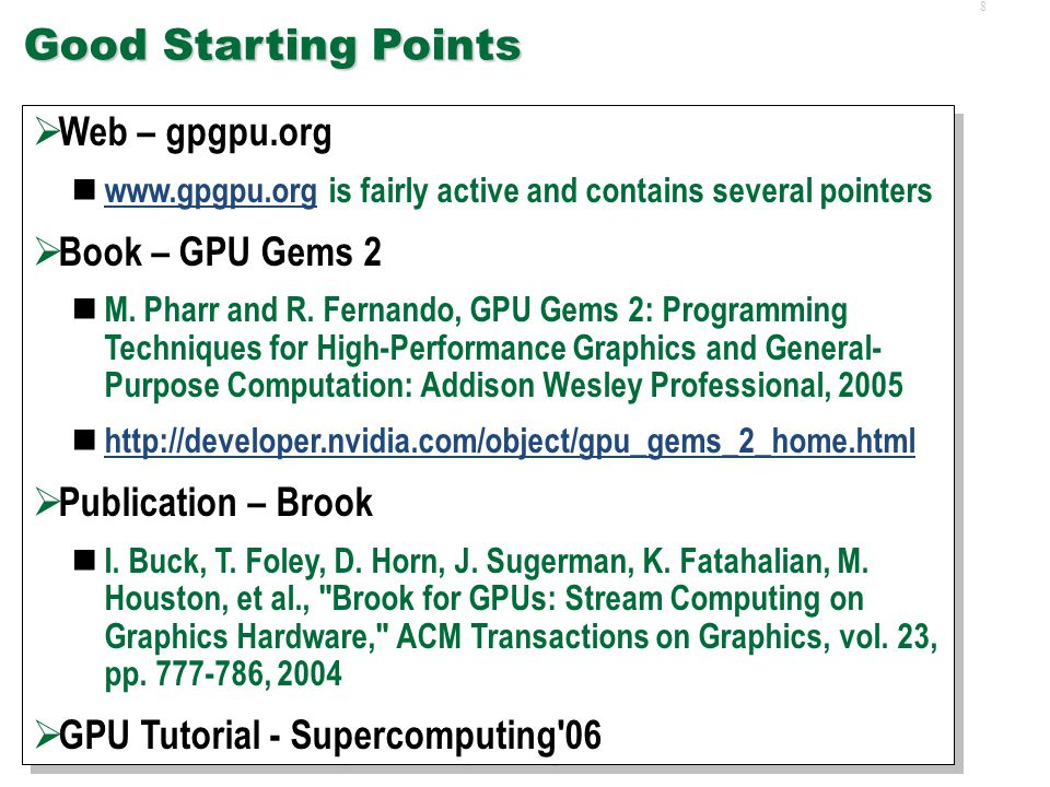 78 Fallout for DES  In general, unclear how to map LPs and events to GPGPU framework  Can't update LP in isolation  Can't execute single event individually  Stream LP states.