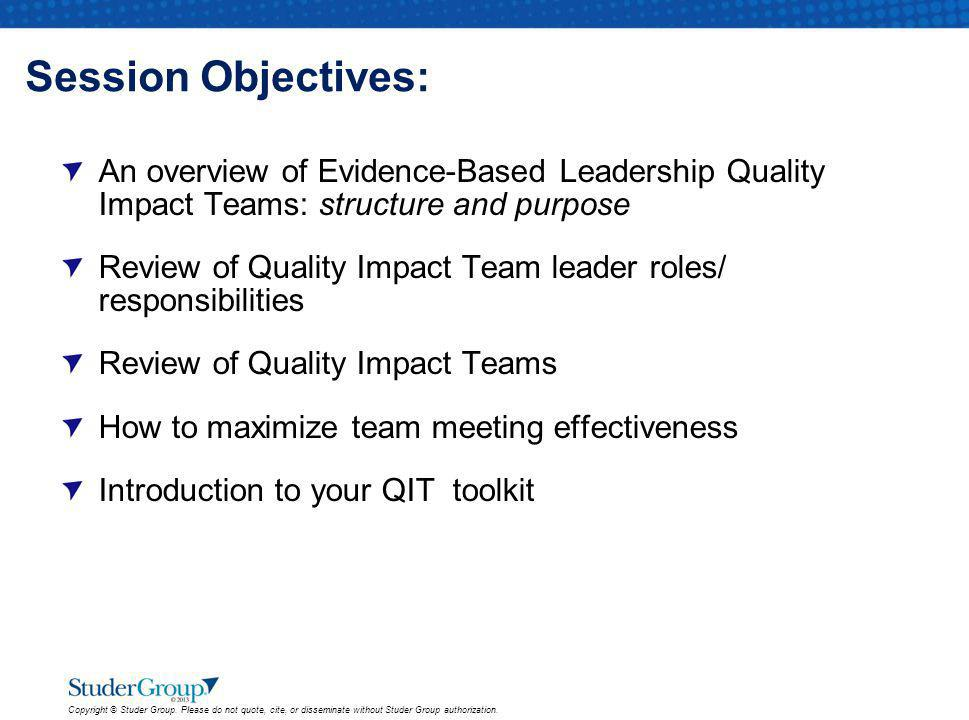 Measurement Team To consistently identify and communicate trends in results