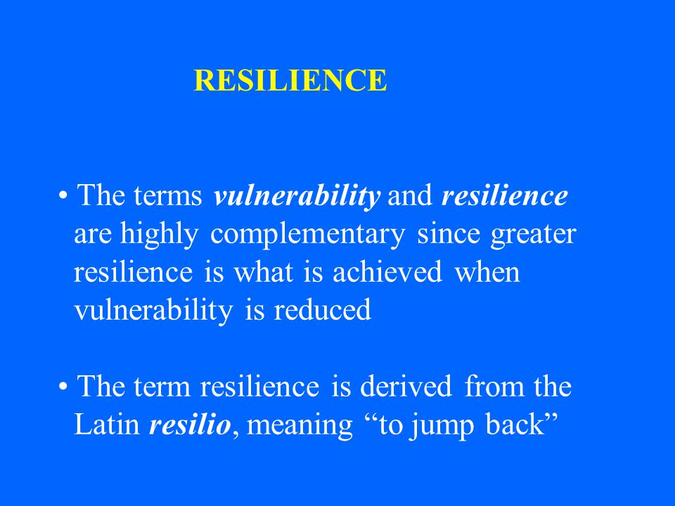 This concept of resilience was introduced in 1973 by ecologist C.S.