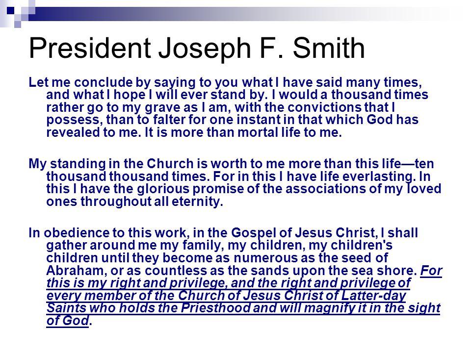 President Joseph F.