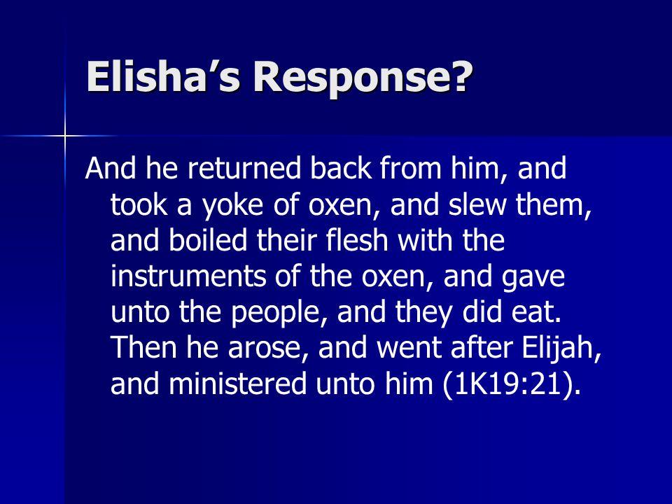 Elisha's Response.